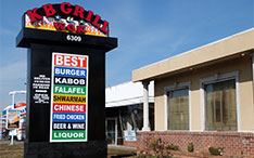 Sign for KB Grill
