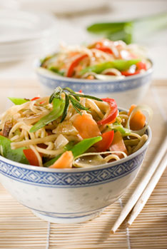 Chinese Noodles with Vegetables